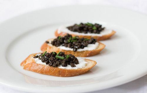 Beluga Lentil Crostini – from 101 Cookbooks